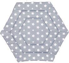Fillikid Laufgittereinlage Sterne 6-eckig, grau
