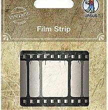 Film Strip 1m, Ursus, Emaille Dekoration, Schmuck,