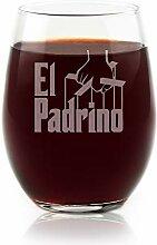 Filme auf Glas–El Padrino Film Gravur Logo