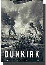 Filmposter dunkirk Kunstdruck auf Leinwand, 50 x