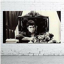 Filmposter für Wohnzimmer Leinwand schwarz und