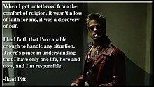Filmposter mit Zitat von Brad Pitt, Semigloss