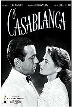 Filmposter Vintage Casablanca, Kunstdruck auf