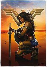 Filmposter Wonder Woman von Graph & More Flag Only