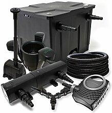 Filter Set 12000l Teich 18W Teichklärer NEO8000 70W Pumpe 25m Schlauch Skimmer SK40 Springbrunnen