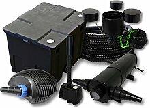 Filter Set 12000l Teich,36W Teichklärer,CTF ECO 40W Pumpe 25m Schlauch Skimmer CSP250 Springbrunnen