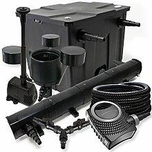 Filter Set 12000l Teich 72W Teichklärer NEO8000 70W Pumpe 25m Schlauch Skimmer CSP250 Springbrunnen