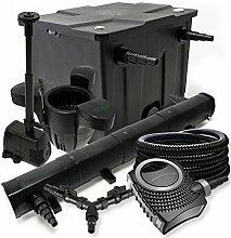 Filter Set 12000l Teich 72W Teichklärer NEO8000 70W Pumpe 25m Schlauch Skimmer SK30 Springbrunnen