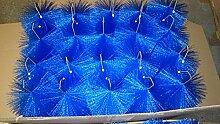 Filterbürsten Blau 50 cm Ø 150mm x 24 Stk. !!! Gartenteich Filter Koi Filterbürste Teichfilter