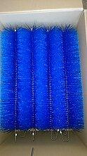 Filterbürsten Blau 50 cm Ø 150mm x 48 Stk. !!! Gartenteich Filter Koi Filterbürste Teichfilter