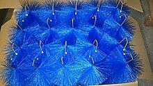 Filterbürsten Blau 50 cm Ø 150mm x 50 Stk. !!! Gartenteich Filter Koi Filterbürste Teichfilter