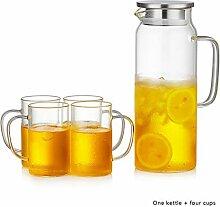 Filterkannen Glas Kessel Teekanne Saft
