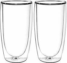 FilterLogic | 6 Stück 370ml doppelwandige Gläser