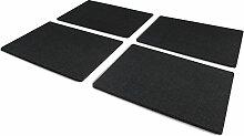 FILU Platzsets aus Filz (Farbe wählbar) 4 Stück