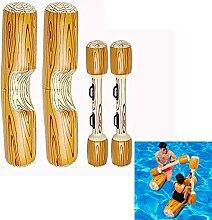 FILWO 1 Set Aufblasbare Pool Battle Log Rafts &