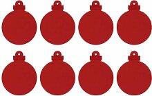 Filz-Dekoration - Filz-Set Weihnachtskugel (8-teilig) mit Aufhänger