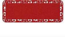 Filz-Dekoration - Filz Tischläufer Weihnachten