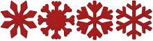 Filz-Dekoration - Streudeko Schneeflocke