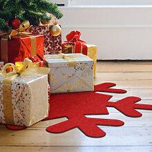 Filz-Dekoration - Weihnachtsbaumdecke - Schneeflocke