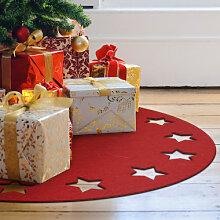Filz-Dekoration - Weihnachtsbaumdecke - Sternenkranz