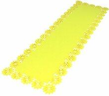 Filz Tisch-Deckchen Blumenbordüre 30 x 100cm gelb