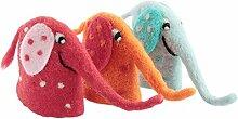Filzaufsteller Elefant 3 Farben Eierwärmer Filz
