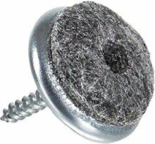 Filzgleiter aus Metall zum Schrauben Ø 24 mm, 16 Stück