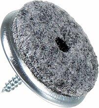 Filzgleiter aus Metall zum Schrauben Ø 35 mm, 16 Stück