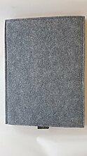 Filzkissen, Filzauflage für Ulmer Hocker (Antirutsch-grau/grau)