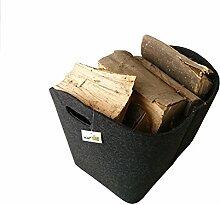 Filzkorb grau, zur Aufbewahrung von Holz Art.