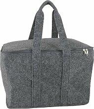 Filztasche grau einsetzbar als: Einkaufstasche