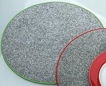 Filzuntersetzer Tischset rund Ø 35 cm mit Saum