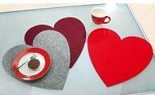 Filzuntersetzer Valentinstag Herz groß Ø 40 cm