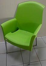 Fimel–Sessel Super Jenny der Scab Farbe Grün aus Technopolymer