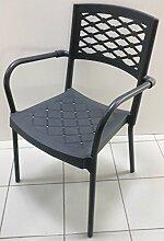 Fimel–Stuhl Lula der Scab mit Struktur aus lackiertem Aluminium anthrazi