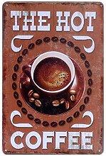 FimGGe Heißer Kaffee Shop Retro Metall