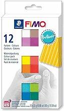 FIMO Soft-Set 12 Farben, 25g Brillant, Diy