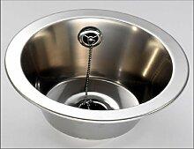 FIN290R Rund einbau spüle Waschbecken 340mm