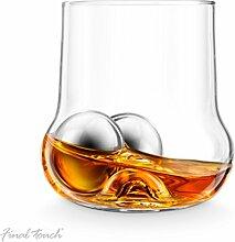 Final Touch ROCK Roller Whiskey Glass bauchige