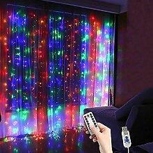 Finanoco Solar Led Lichterkette, Vorhang Streifen