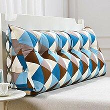 Fine Bett Kissen Lendenwirbel Rücken Stützauflage, Weiche Tasche Dreieckige Keilauflage, Abnehmbar Waschbar A++ ( größe : 150cm )