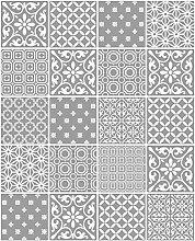 Fine Decor Ceramica Tapete fd41464–Küche Badezimmer Marokkanische Fliesen grau *