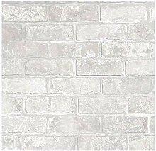 Fine Décor fd41953Loft brick Tapete, Weiß