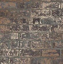 Fine Décor FD41955 Loft Brick Tapete, braun