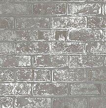 Fine Décor FD41956 Tapete, Ziegelstein-Design,
