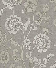 Fine Décor fd41976Quarz Floral Tapete, Zinn