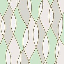 Fine Décor fd42173UK Apex Wave Tapete, grün