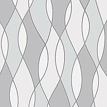 Fine Décor FD42174UK Apex Wave Tapete, Grau
