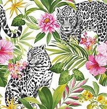 Fine Décor FD42471 Uk Tropica Leopard Multi