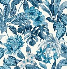 Fine Décor FD42472 Uk Tropica Rainforest Blue
